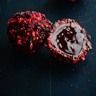Balsamic wild berry truffle
